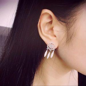 ❤️New Dream Catcher Silver Golden Earrings